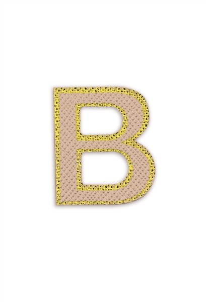 Ledersticker Letter B Rose Gold 1
