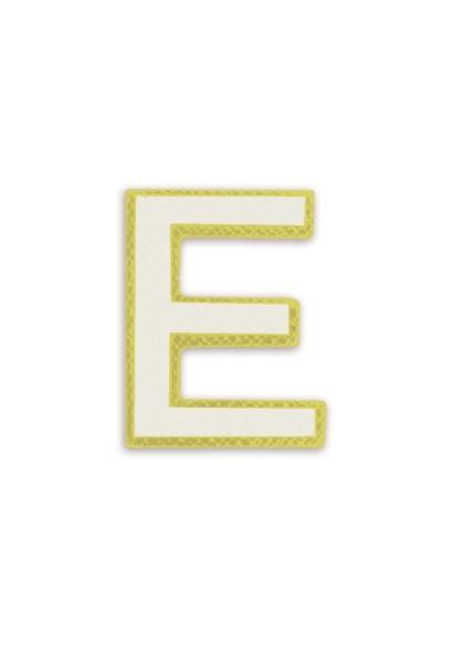 Ledersticker Letter E White 1