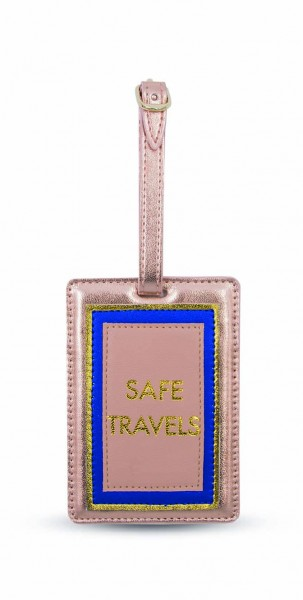 Luggage Tag - Safe Travels Peach 1
