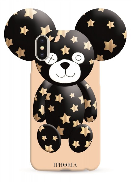 Case for Apple iPhone X - Teddy Golden Stars 1