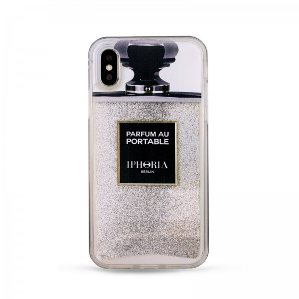 Liquid Case for Apple iPhone Xr - Silver Glitter 1