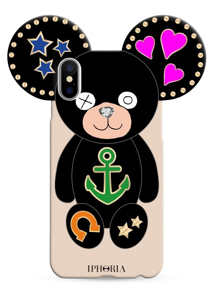 Case for Apple iPhone X/XS - Teddy Black Icons 1