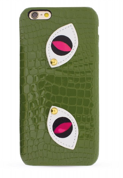 Green Snake Eyes aus Veggie Leather für Apple iPhone 6/ 6S 1