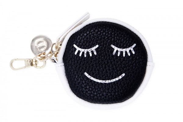 Coin Wallet - Black Smiley 1