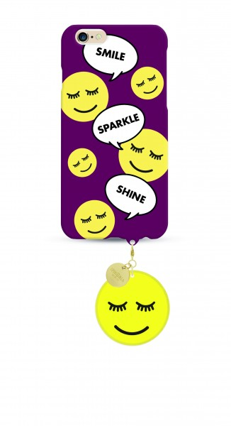 Smiley Sparkle Shine Smiley Case mit Smiley - Anhänger für Apple iPhone 6/ 6S 1