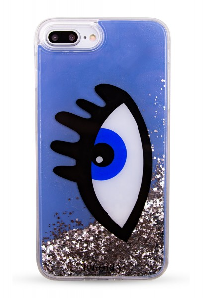 Liquid Case for Apple iPhone 7+/8+ - Blue Eye 1