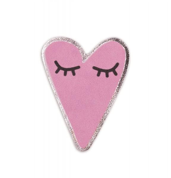 Ledersticker Heart Pink 1