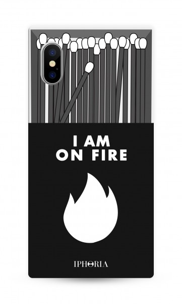 Case for Apple iPhone X/Xs - Hide Away - I Am On Fire Black 1
