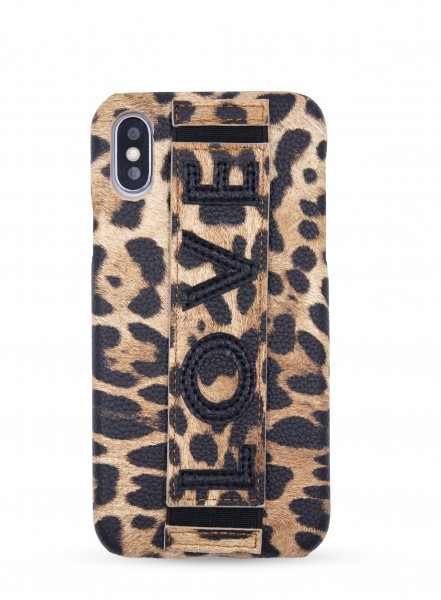 Case for Apple iPhone X/XS - Clutch Case with Leo Print 1