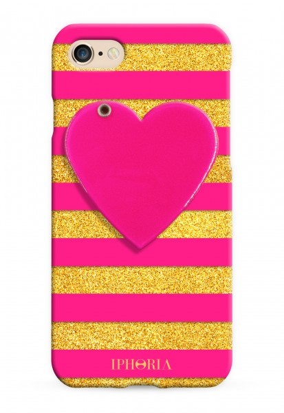 Mirror Case Pink Heart for iPhone 7/ 8 1