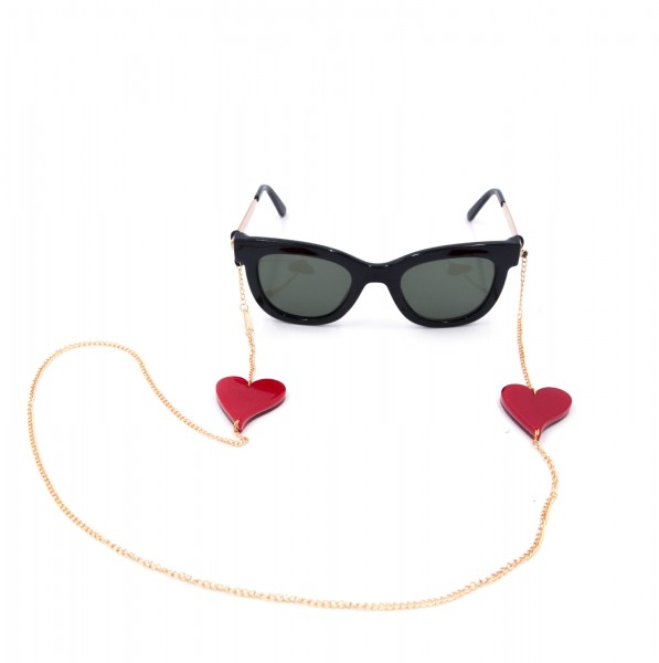 Glasses Strap gold plated - Red Heart 1