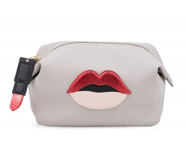 Washbag - Grey Lips 1