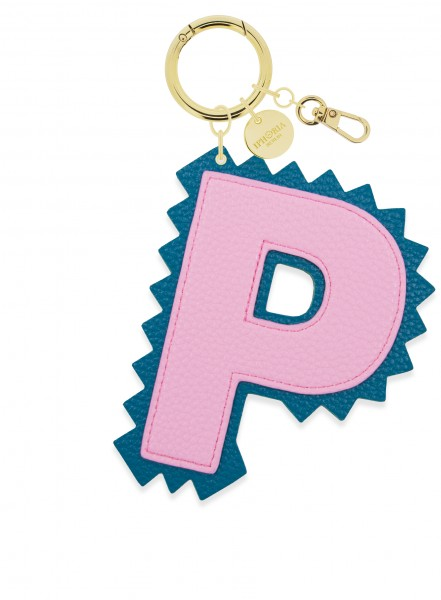 XL Bag Charm Rose Letter P 1