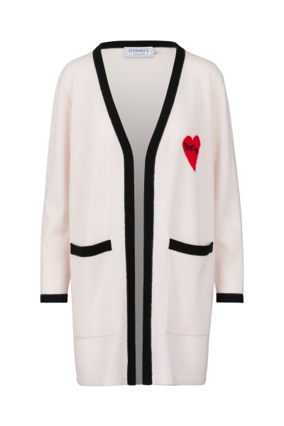 100% Cashmere Cardigan - Heart Eyes - Size 1 1
