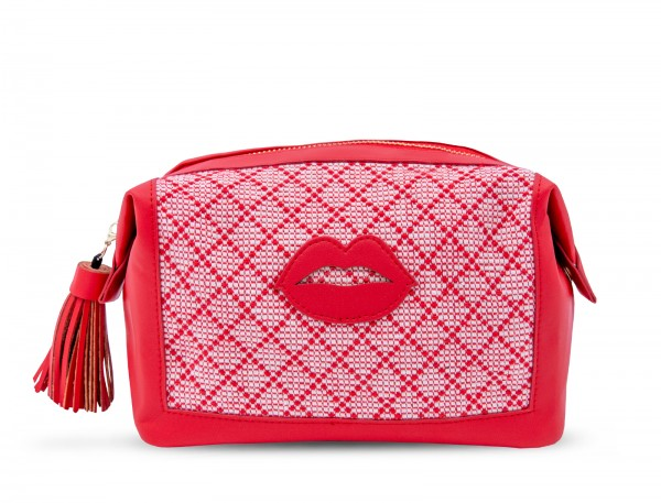 Artikelbild 1 des Artikels Washbag - Red Linen With Lips