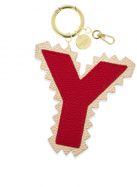 XL Bag Charm Red Letter Y 1