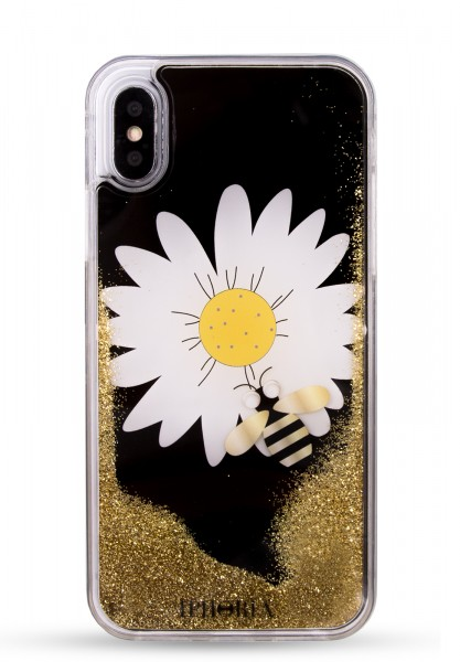 Liquid Case for Apple iPhone 7/8 - Daisy Black 1