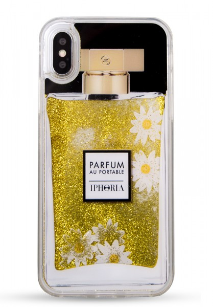 Liquid Case for iPhone X/XS - Parfum Daisy Golden Glitter 1