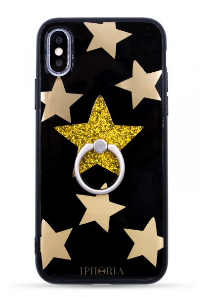 Case Case for Apple iPhone 7/8 - Ring Happy Black Star - 1