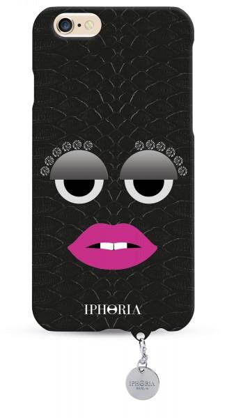 Monster Black Snakeprint mit Jewelery Mold zum Personalisieren für Apple iPhone 6/ 6S 1