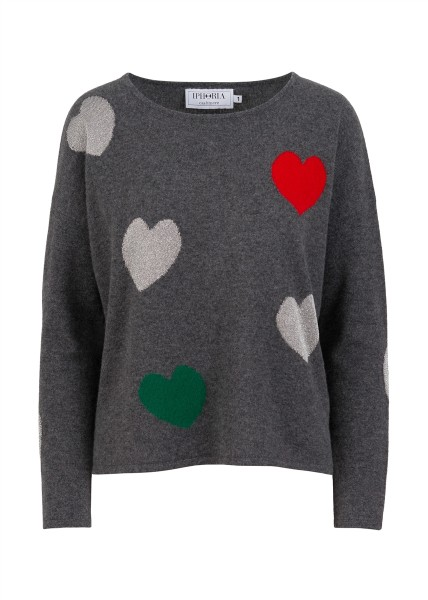 Cashmere Loose Jumper Hearts Size 1 1