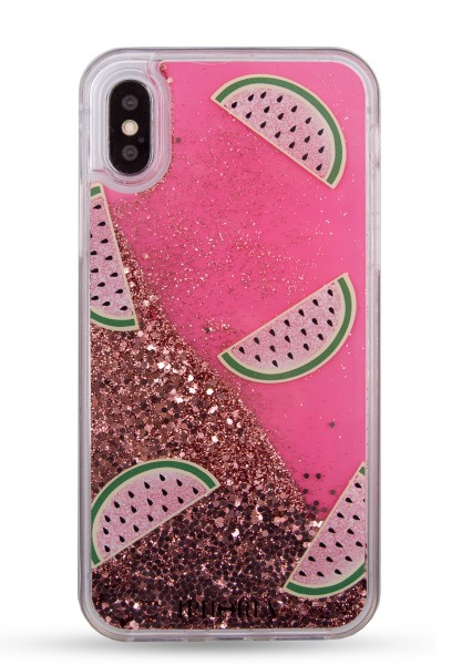 Liquid Case for Apple iPhone X/XS - Melon Glitter Gold 1