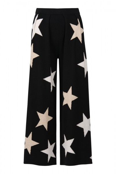 100% Cashmere Palazzo Pants - All The Stars White Size 1 1