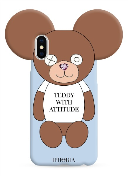 Case for Apple iPhone X/XS - Teddy with Attitude 1