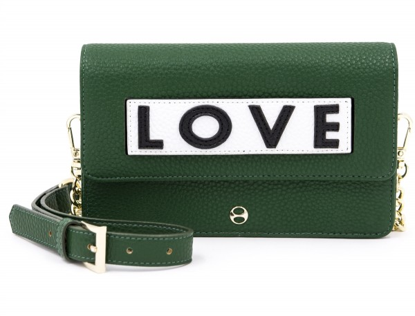 Micro Shoulder /Belt Bag - Olive Black Love 1