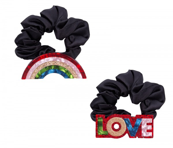 Hair Scrunchie - Rainbow & Love 1