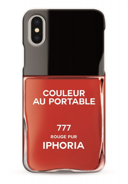 Case for Apple iPhone X/XS - Nailpolish Vernis Rouge  1