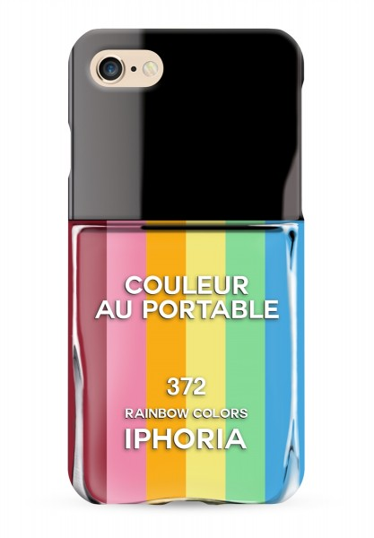 Case for Apple iPhone 7 / 8 - Nailpolish Rainbow 1