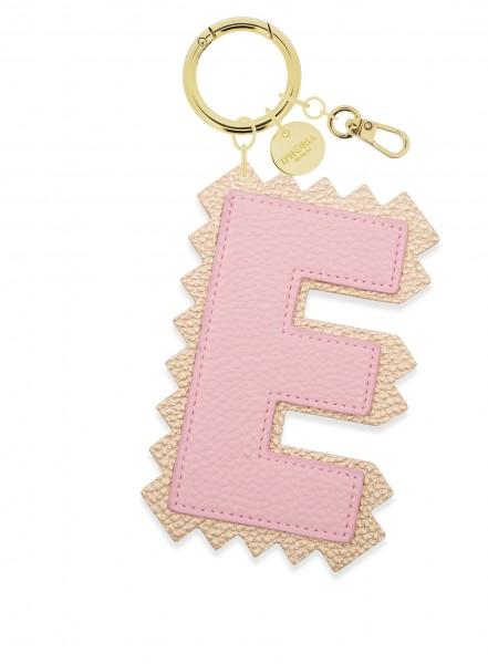 XL Bag Charm Rose Letter E 1