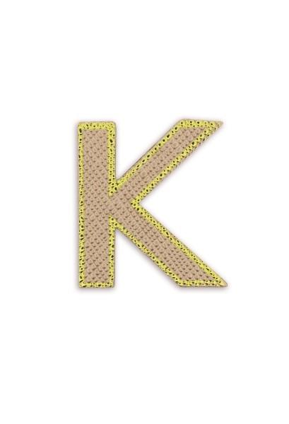 Ledersticker Letter K Rose Gold 1