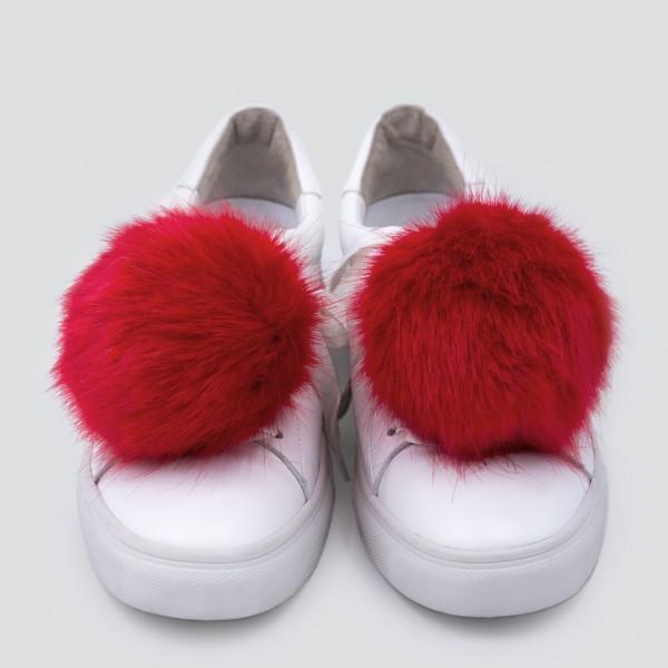 Sneaker Charm Set Fake Fur Red zum Personalisieren Deiner eigenen Schuhe. 1
