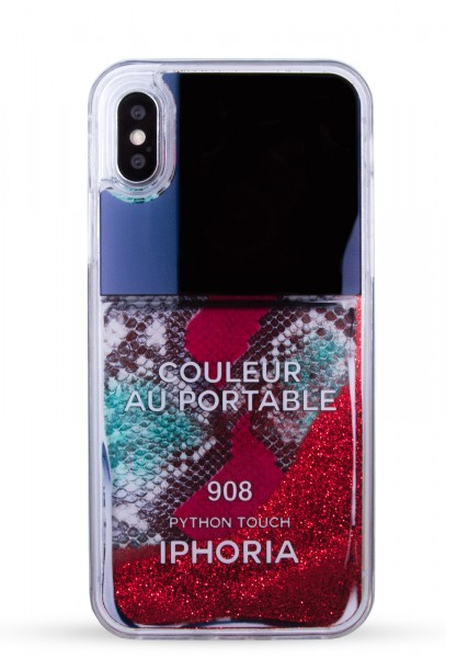 Liquid Case for Apple iPhone X/Xs - Red Snake Classic Nail Polish 1