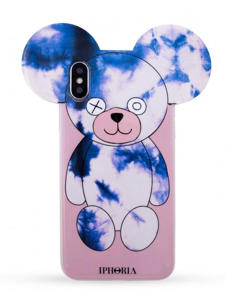 Case for Apple iPhone X/Xs - Teddy Case Batik Blue Nude 1