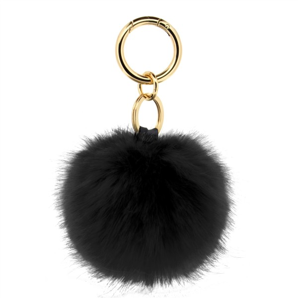 Fake Fur Keychain Black 1
