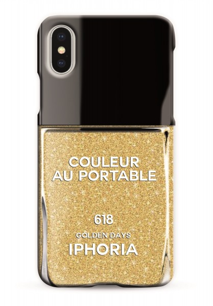 Case for Apple iPhone X - Nailpolish Golden Days 1