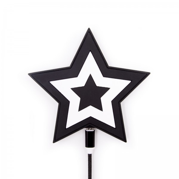 QI Wireless Charger - Star Black White 1