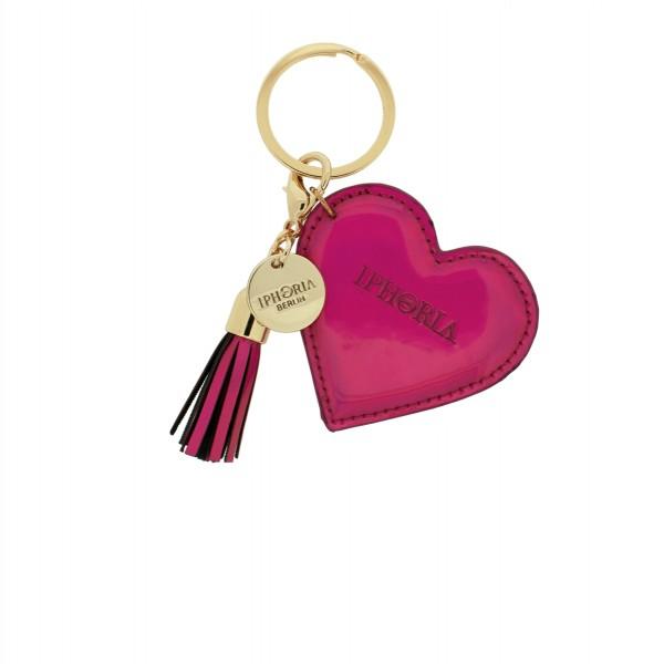 Keychain Heart Mirror Pink 1