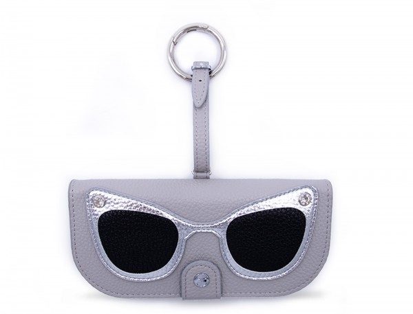 Glasses Case with Bag Holder - Grey with Silver  1