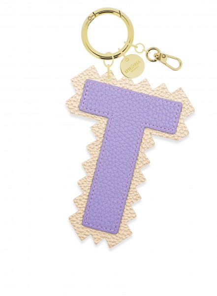 XL Bag Charm Purple Letter T 1