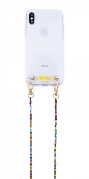 Necklace Pearl Case for iPhone X/XS - Colorful Glass Pearls 1