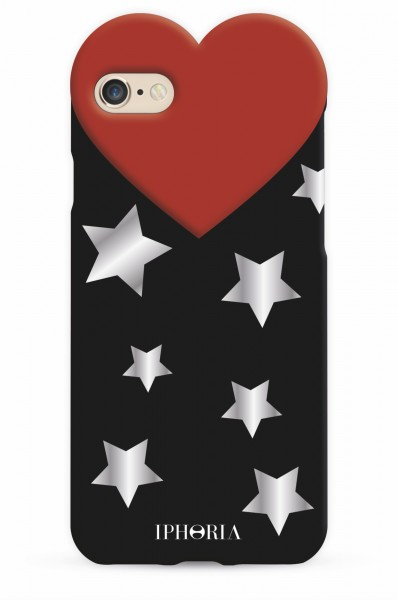 Heart Case Silver Stars for iPhone 7/ 8 1