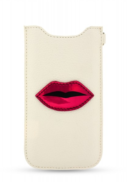 Red Lips Patch Sleeve White für Apple iPhone 6/ 6S/ iPhone 7/ 8 1
