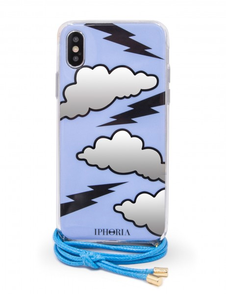 Necklace Case  for Apple iPhone X/XS - Blue Thunderstorm 1