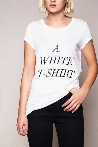 T-Shirt - A White T-Shirt Size 2 1