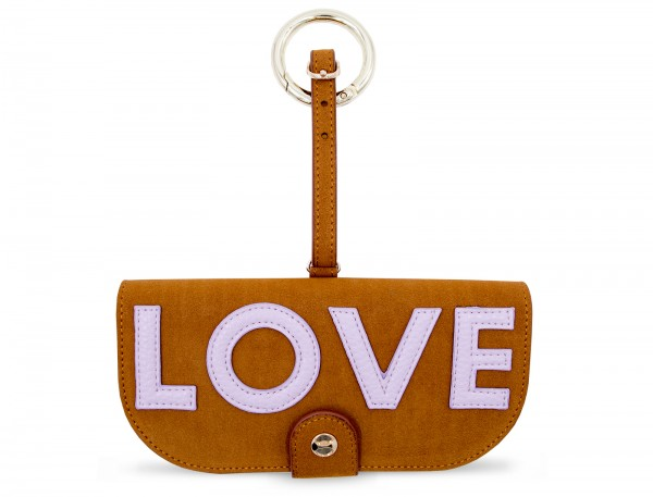 Glasses Case with Bag Holder - Brown with Love 1