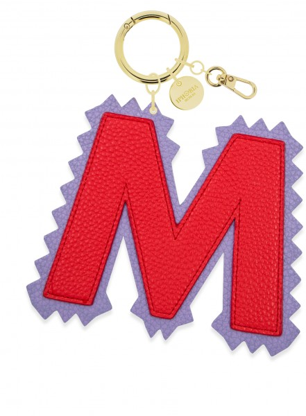 XL Bag Charm Red Letter M 1